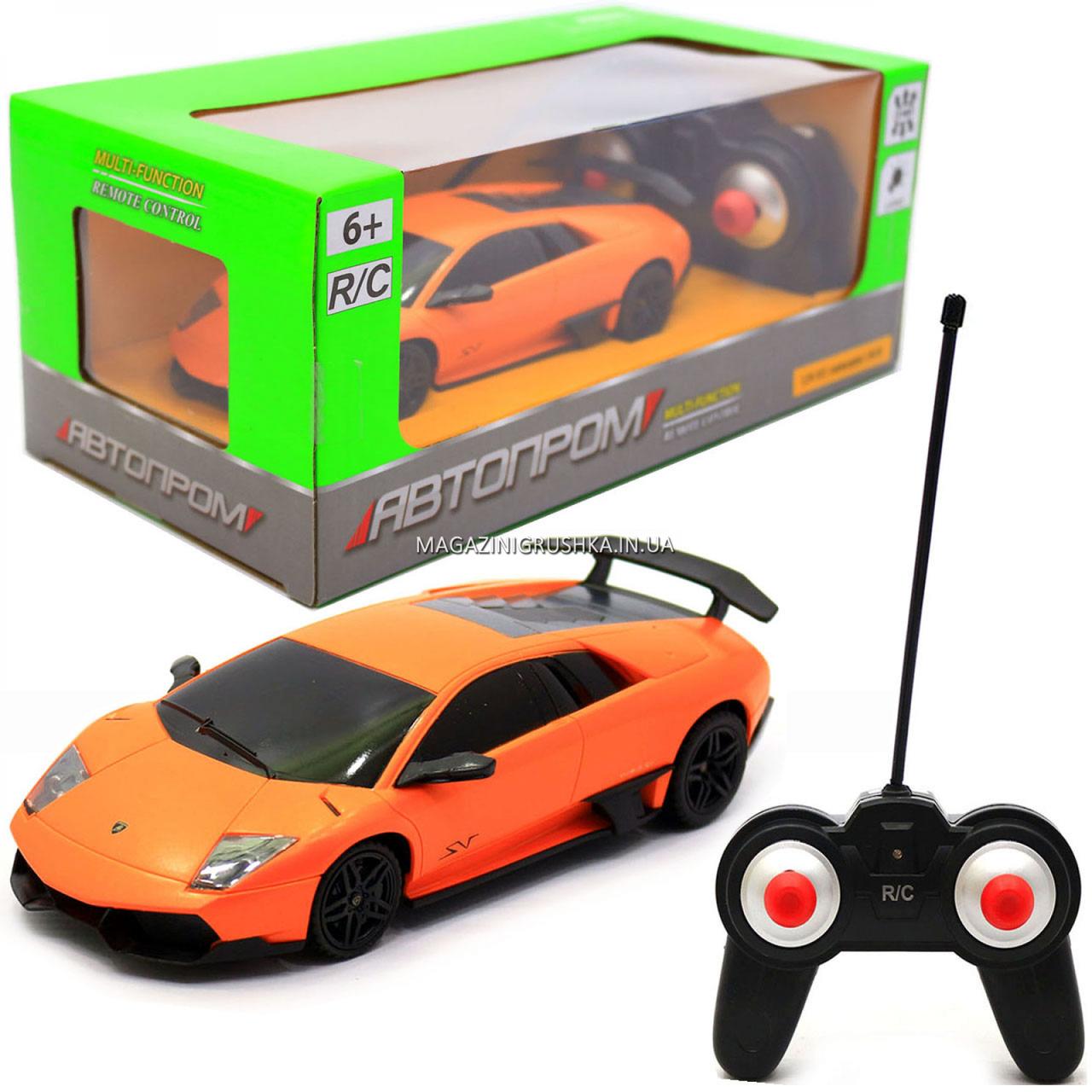 Машинка ігрова автопром на радіокеруванні Lamborghini LP670 жовтий (8820)