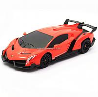 Машинка игровая автопром на радиоуправлении Lamborghini veneno (ламборджини) красный (8808), фото 5