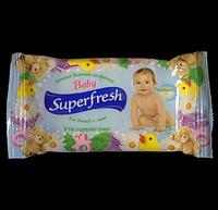 Влажные салфетки для детей SUPER FRESH 15шт