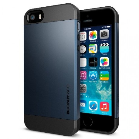 Чохол SGP Slim Armor для iPhone 5/5S Чорний