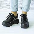 Кроссовки женские черные демисезонные эко кожа b-414, фото 4