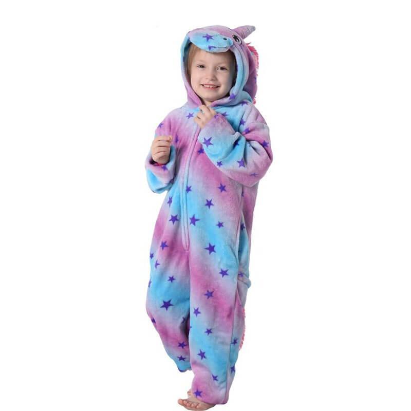 Пижама детская Kigurumba Единорог Блу Страйпс L - рост 125 - 135 см Фиолетово-голубой (K0W1-0106-L)