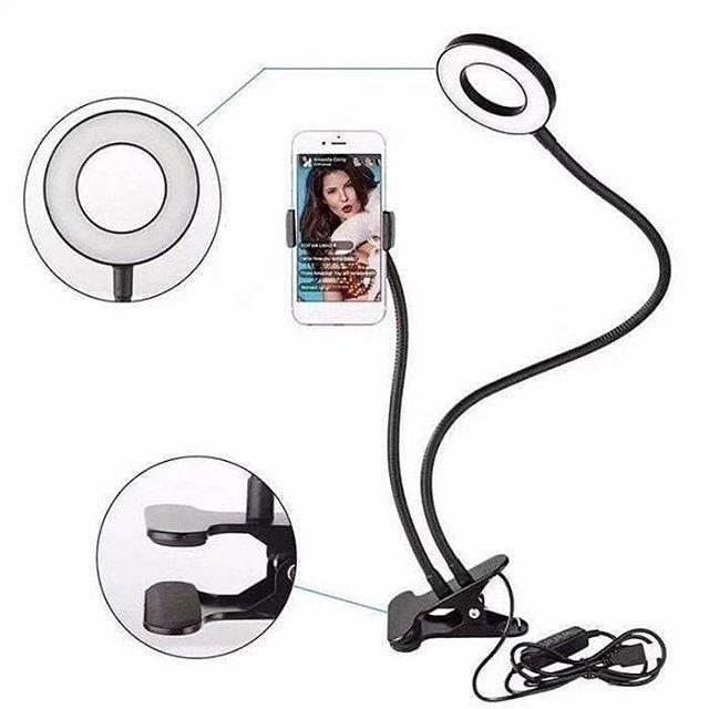 Тримач для смартфона з LED підсвічуванням для Live Stream РОЗМІР XL (ВЕЛИКА LED ПІДСВІЧУВАННЯ КІЛЬЦЕ)