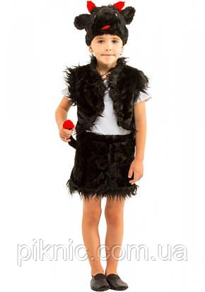 Костюм Чертенок 3-6 лет Детский новогодний карнавальный костюм Чертик для детей 344, фото 2