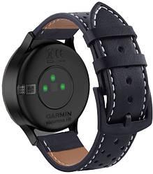 Кожаный ремешок Classic для Garmin Vivomove HR Black (Гармин Вивомове НР)