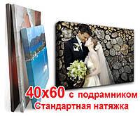 Печать на холсте 40х60 с подрамником (стандартная натяжка), фото 1