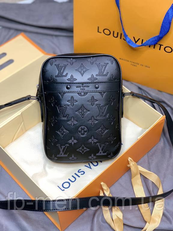 Мессенджер Louis Vuitton квадратной формы черный монограмм|Сумка мужская женская Луи Виттон кожаная маленькая