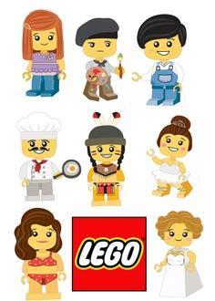 "Вафельна картинка ""Лего"""