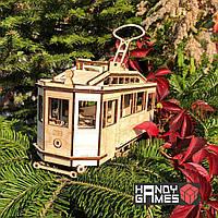 Дерев'яний конструктор Трамвай Sanok SW1 | Woodzle | 151 деталь