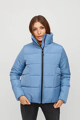 Куртка зимняя короткая дутая голубая