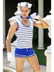 Мужской соблазнительный костюм моряка для карнавала