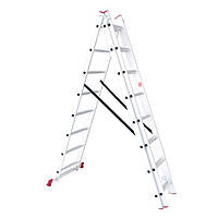 Лестница алюминиевая 3-х секционная универсальная раскладная INTERTOOL LT-0308
