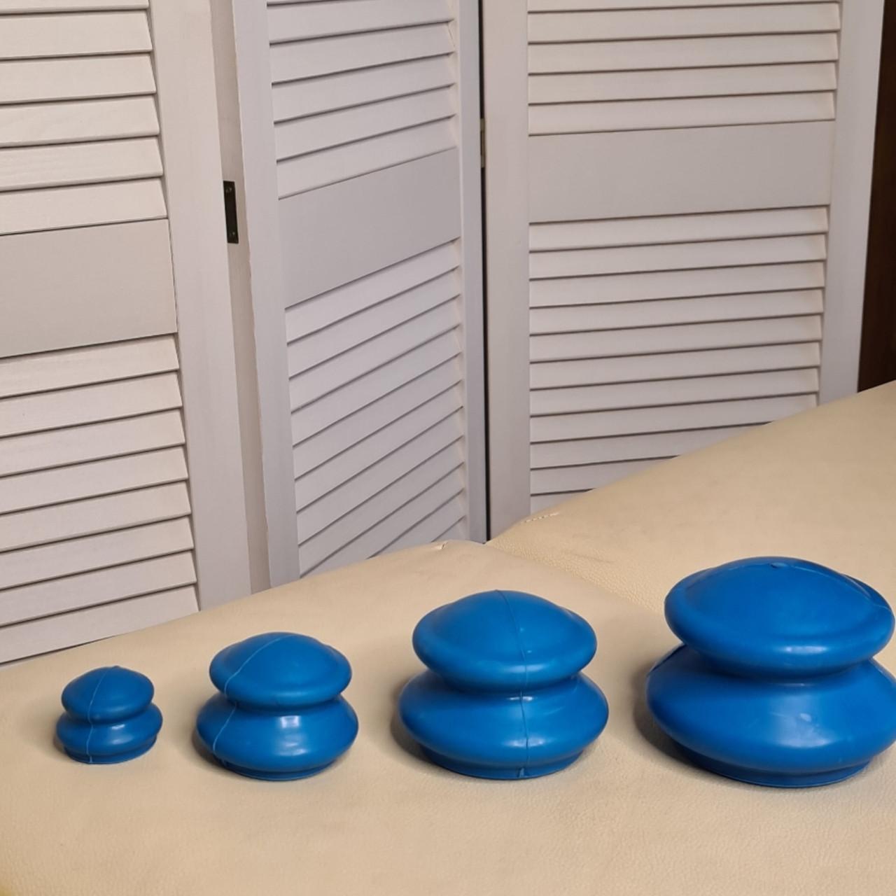Масажні вакуумні банки 4 шт для целюліту резиновые массажные вакуумные банки