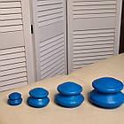 Резинові масажні вакуумні банки 4 штуки для масажу синие Резиновые массажные вакуумные банки для масса, фото 2