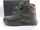 Стильні зимові шкіряні черевики під кросівки на цигейке Bertoni, фото 6