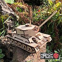 Дерев'яний конструктор Танк Т-34   Handy Games   127 деталей