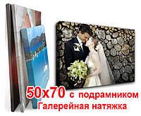 Печать на холсте 50х70 с подрамником (галерейная натяжка), фото 1