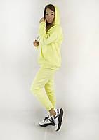 Молодежный женский спортивный костюм на зиму в желтом цвете S, M, L