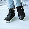 Ботинки женские черные демисезонные эко кожа b-416, фото 6