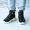 Ботинки женские черные демисезонные эко кожа b-416, фото 7