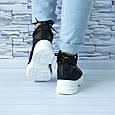 Ботинки женские черные демисезонные эко кожа b-416, фото 3