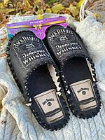 Мужские фетровые тапочки ручной работы Jack Daniels
