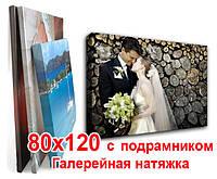Печать на холсте 80х120 с подрамником (галерейная натяжка), фото 1