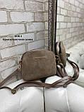 Удобный и практичный женский клатч из натуральной замши и кожзама, фото 5