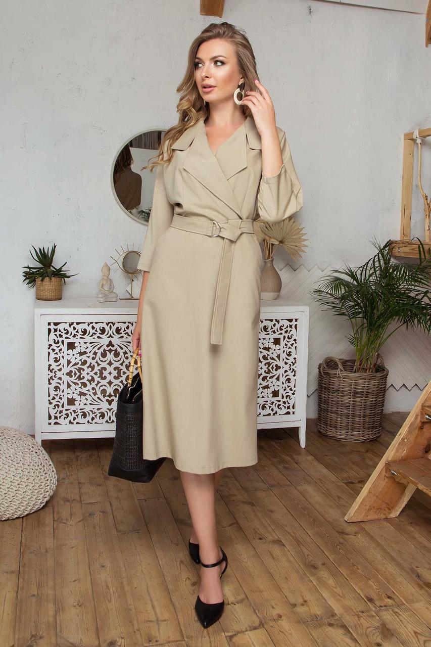 Сукня в діловому стилі з костюмної тканини
