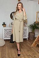 Сукня в діловому стилі з костюмної тканини, фото 1