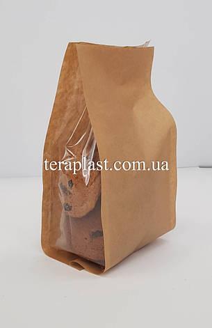 Стабило 150г Крафт+прозрачные боковые закладки 100х170х45 без зип, фото 2