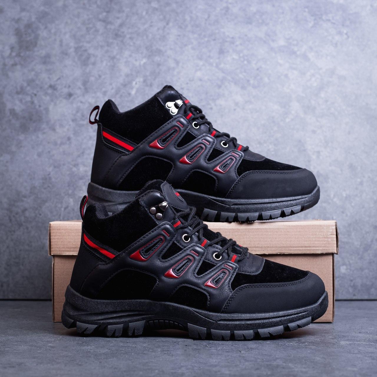 Мужские ботинки Гамми БО-бо черные с красным