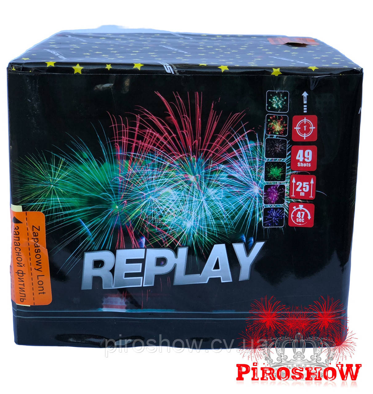 Салютная установка REPLAY 49 выстрелов 25 калибр   Фейерверк MC113 Maxsem