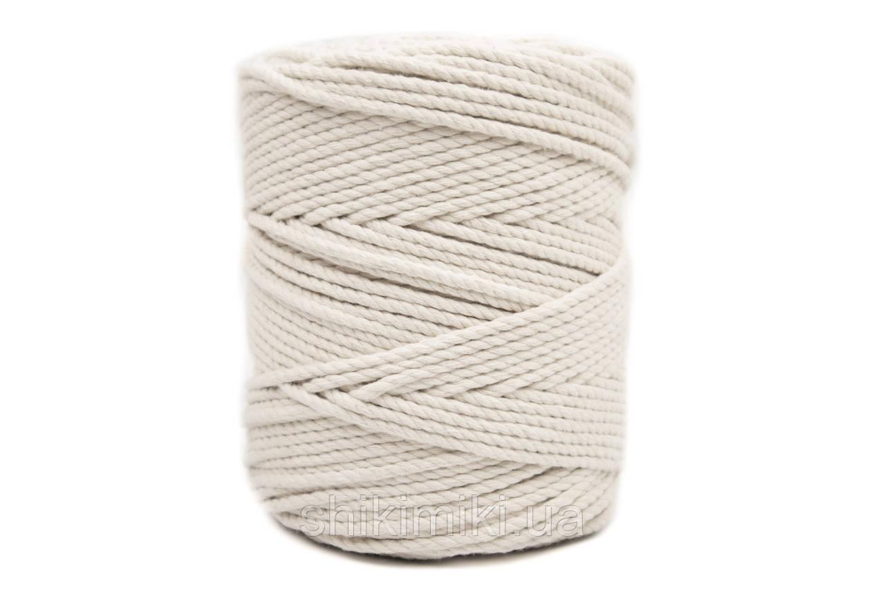 Эко шнур Macrame Rope 4mm (200m), цвет Молочный