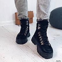 Женские ботинки на толстой подошве 6474 (ММ), фото 2