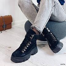 Женские ботинки на толстой подошве 6474 (ММ), фото 3