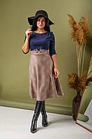 Интересное женское платье длины миди 44-52рр.