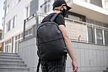 Рюкзак чоловічий шкіряний міської чорний RGB-23, фото 9