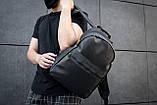 Рюкзак чоловічий шкіряний міської чорний RGB-23, фото 4