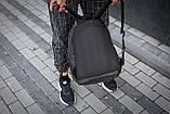 Рюкзак чоловічий шкіряний міської чорний RGB-23, фото 8