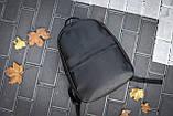 Рюкзак чоловічий шкіряний міської чорний RGB-23, фото 5