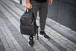 Рюкзак чоловічий шкіряний міської чорний RGB-23, фото 7
