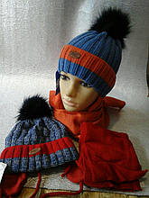 Шапочка для мальчика с шарфисом