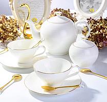 Сервіз чайний фарфоровий на 6 персон Класик 264-698