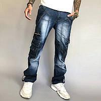 Чоловічі молодіжні джинси Vigoocc 710 карго з бічними кишенями. Розмір 30