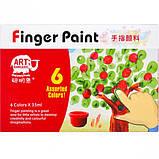 Гуашь пальчиковая 6 цветов по 35 мл / Фарби пальчикові 6 кольорів, фото 3
