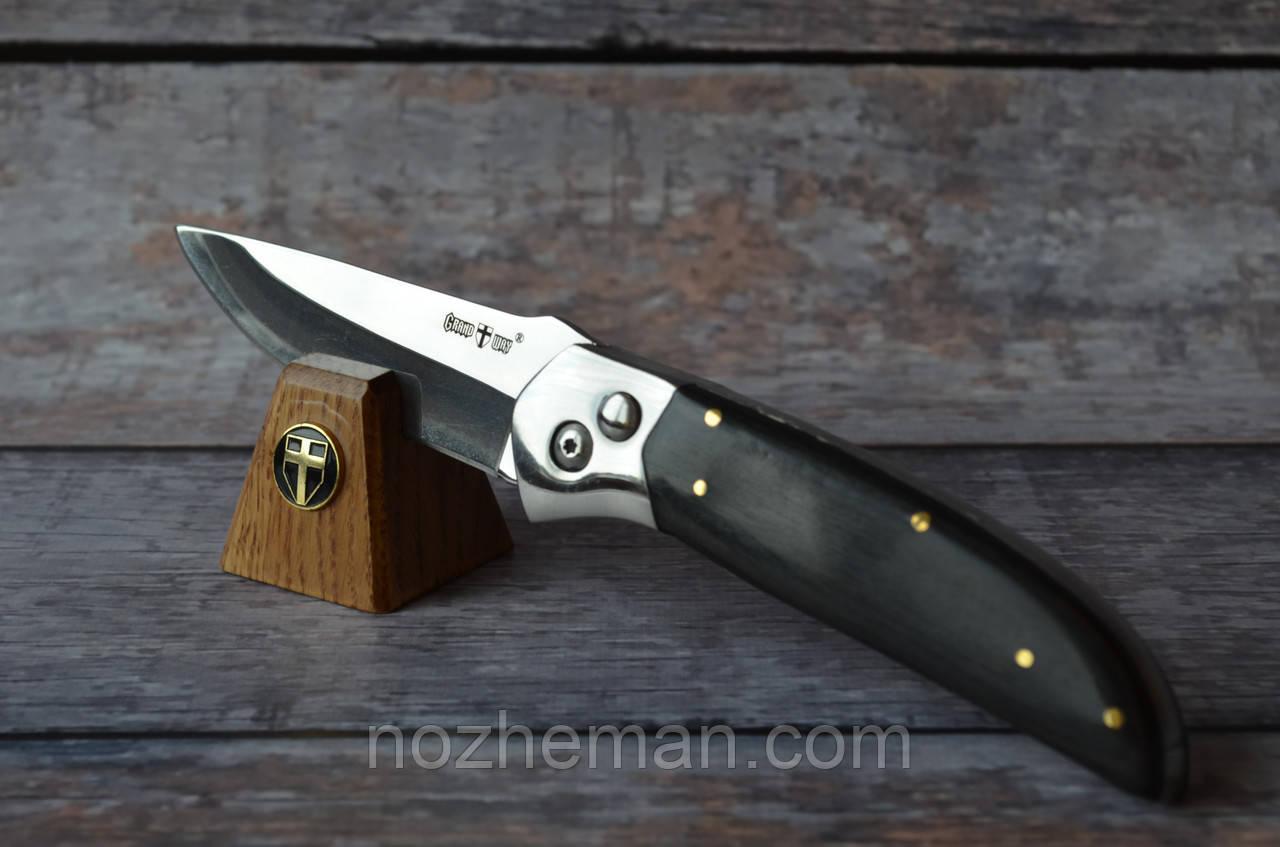 Выкидной нож Пират 2, надежный с мощным клинком нож на каждый день