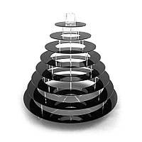 8-ми уровневая круглая акриловая подставка для макаронс/макарун башня