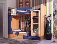 Кровать двухъярусная с навесной лесенкой