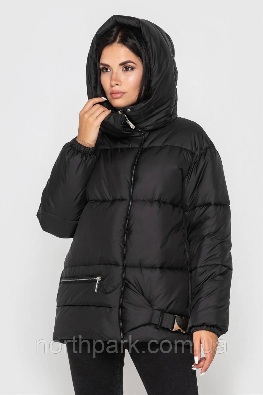 Зимова Подовжена куртка KTL-442 перламутр